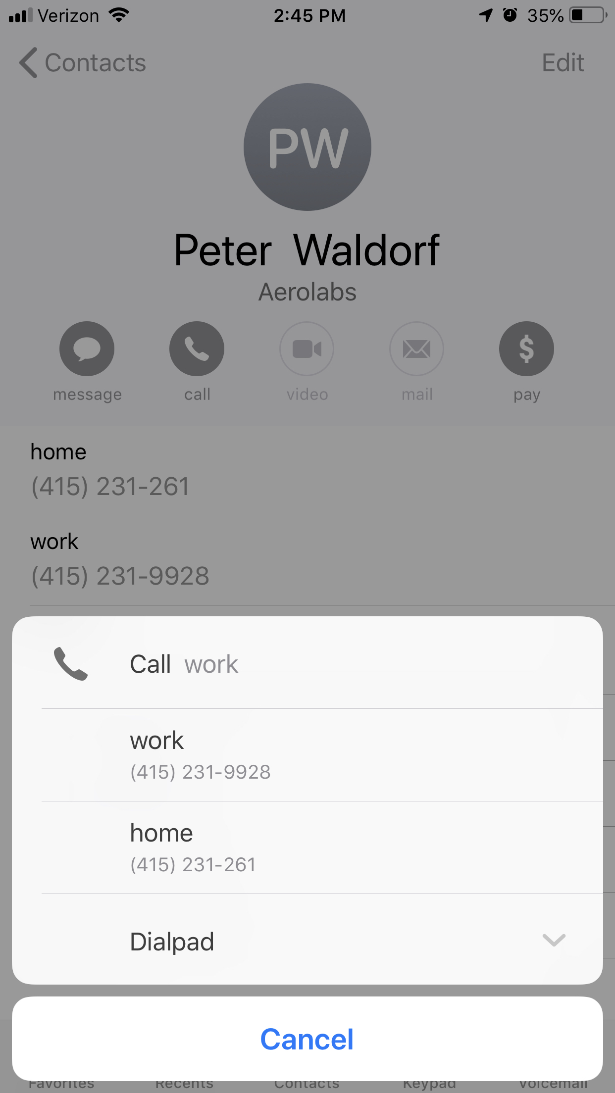 Use the iOS App – Dialpad